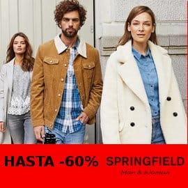 Descuentos en ropa y calzado Springfield para hombre y mujer, roap y calzado barato, ofertas en ropa de marca