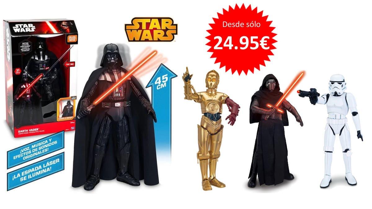 Figuras Star Wars Darth Vader Kylo Ren C3PO y Stormtrooper baratas. Figuras Star Wars baratas, chollo
