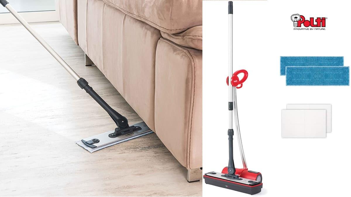 Limpiador a vapor Polti Moppy barato, mopas baratas, ofertas limpieza hogar, chollo
