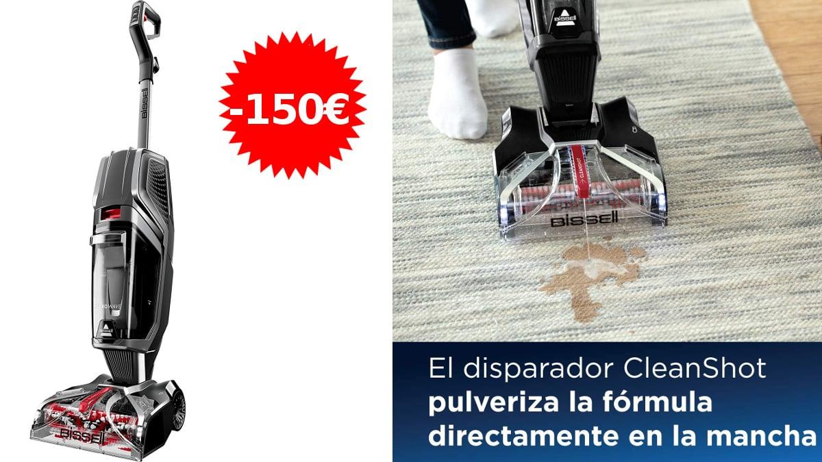 Limpiador de moquetas y alfombras Bissell HydroWave, artículos para limpieza suelo baratos, ofertas hogar, chollo