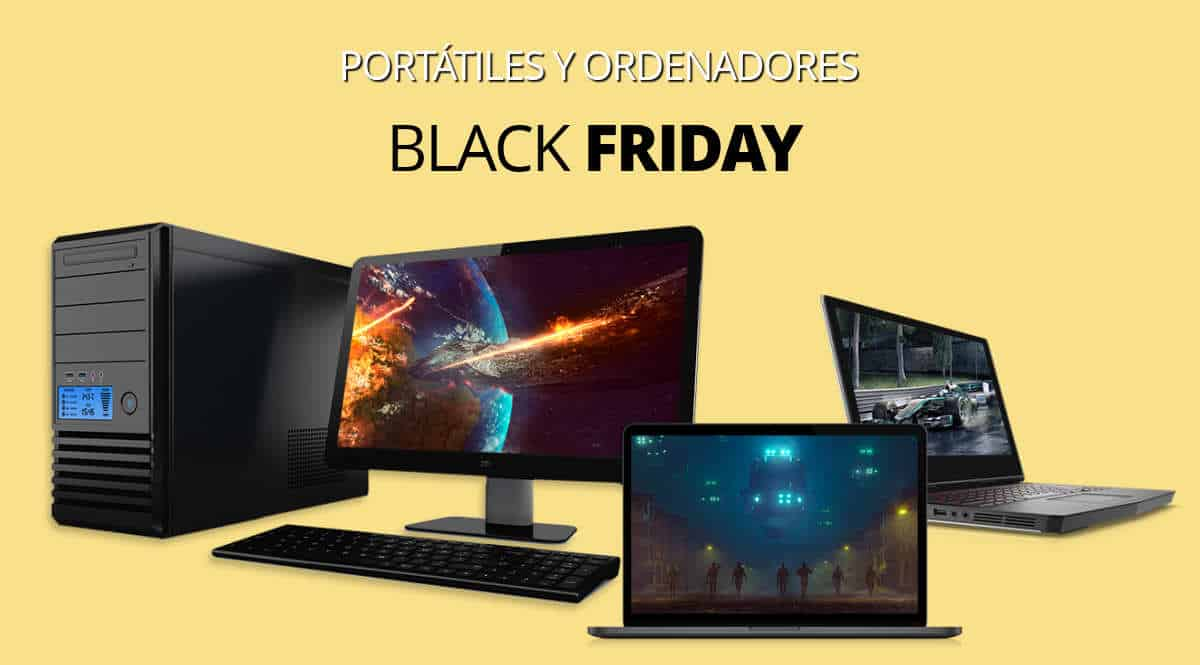 Los mejores chollos del Black Friday en ordenadores, ordenadores baratos, ofertas en ordenadores, chollo 1200