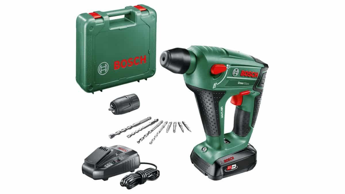 Martillo perforador a batería Bosch UneoMaxx barato, herramientas baratas, chollo