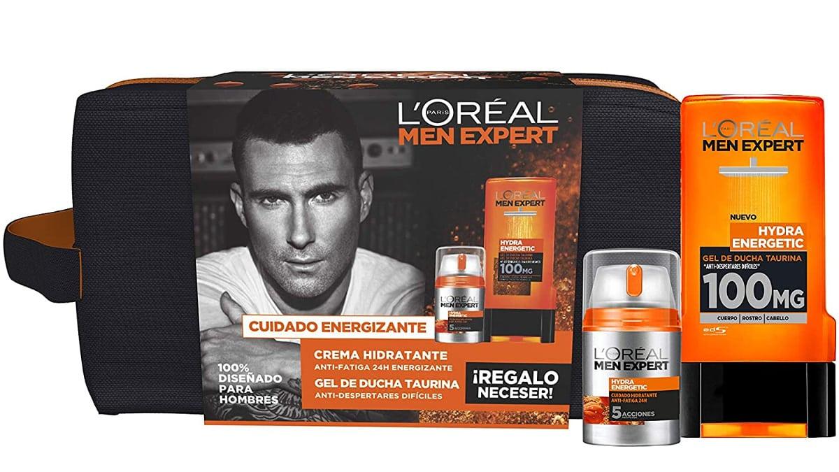 Neceser L'Oreal Paris Men Expert Hydra Energetic barato, cremas para hombre baratas, ofertas belleza, chollo