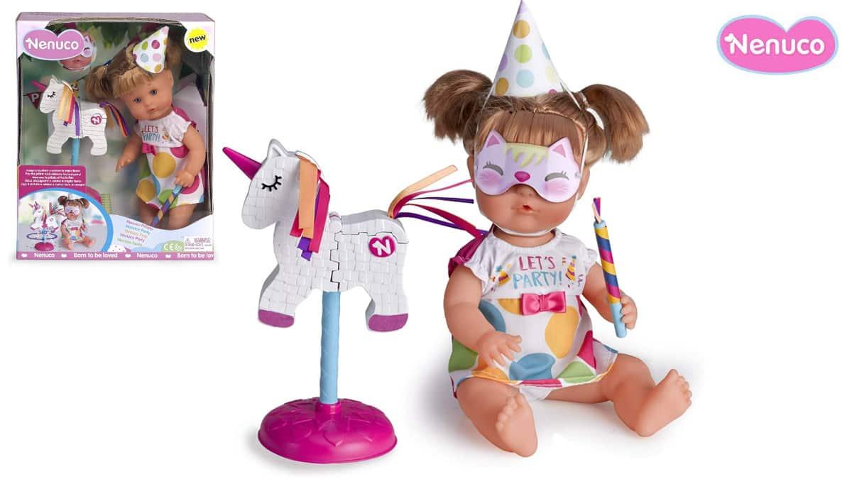 Nenuco piñata fiesta de cumpleaños barato, muñecos baratos, ofertas para niños, chollo