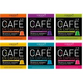 Pack Viaggio selección clásica con 60 cápsulas de café compatibles con Nespresso baratas, café barato, ofertas supermercado