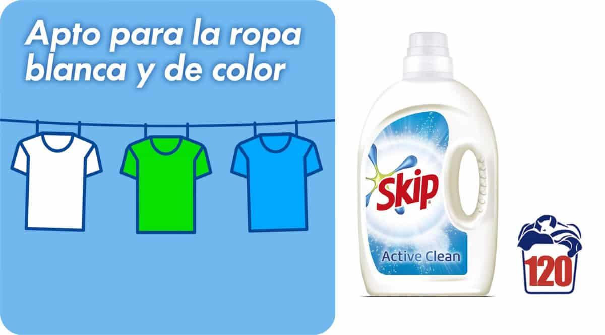 Pack de 120 lavados Skip Active Clean barato. Ofertas en supermercado, chollo