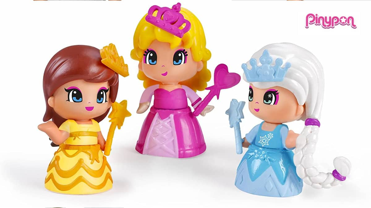 ! Pack de 3 princesas Pinypon barato, juguetes baratos, ofertas para niños, chollo