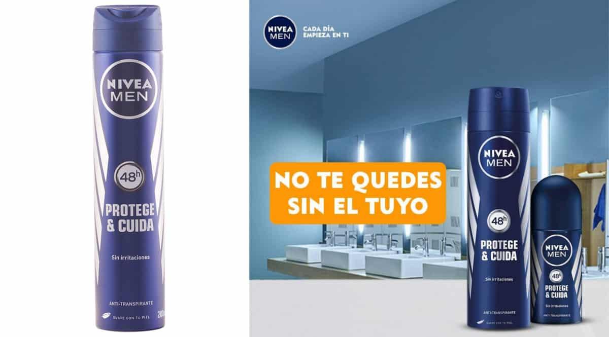 Pack de desodorantes Nivea Men Protege y Cuida barato. Ofertas en supermercado, chollo