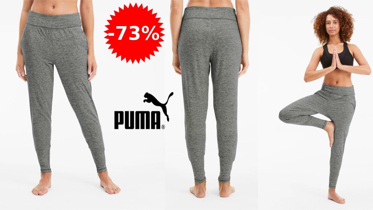 Pantalón de deporte PUMA Studio Tapered Training barato, pantalones deporte baratos, ofertas en ropa de marca, chollo