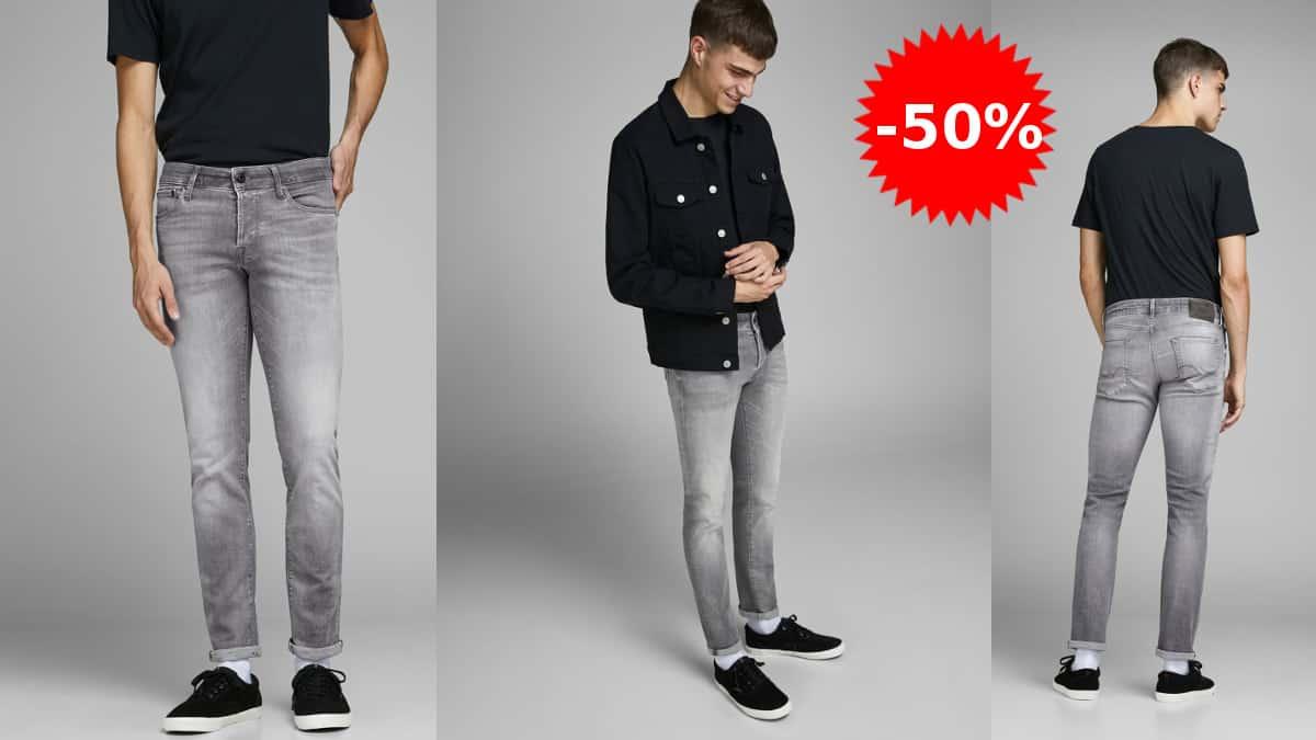 Pantalón vaquero Jack & Jones Glenn Icon 257 barato, pantalones de marca baratos, ofertas en ropa, chollo