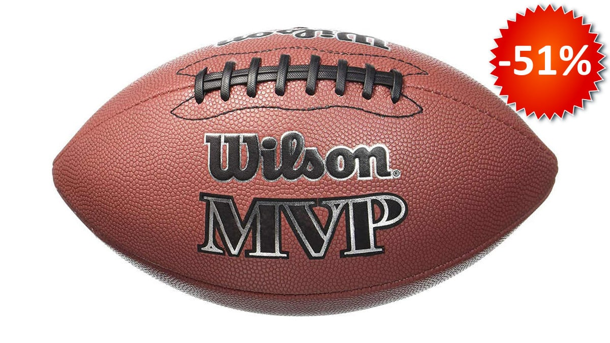 Pelota de fútbol americano NFL Wilson MVP barata, pelotas fútbol americano baratas, chollo