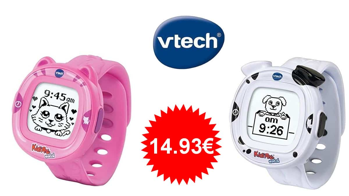 Reloj Kidipets Tik Tak de Vtech barato, juguetes baratos, ofertas para niños, chollo
