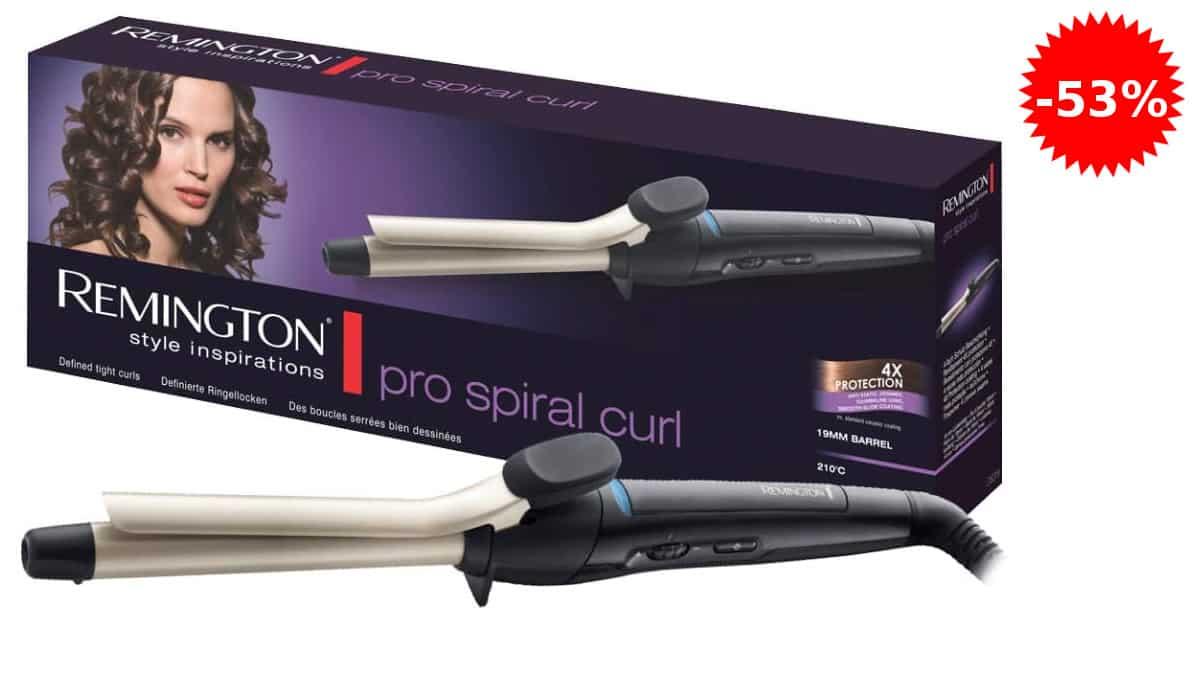 Rizador de pelo Remington Pro Spiral Curl CI5319
