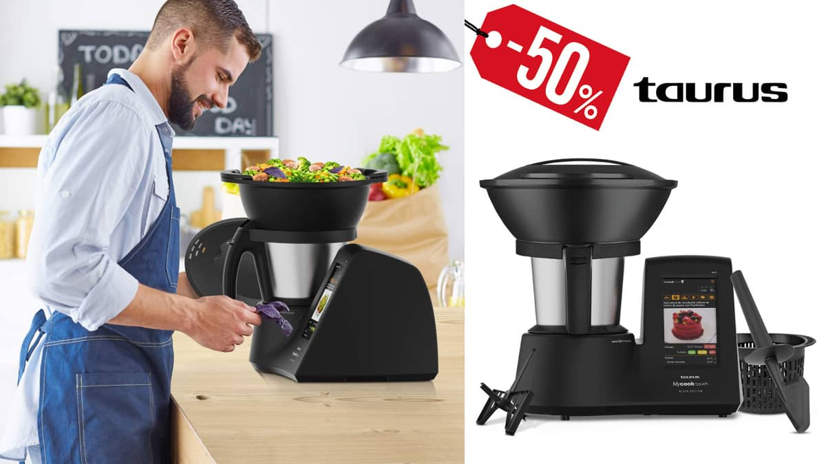 Robot de cocina Taurus Mycook Touch Black Edition barato, robots de cocina baratos, ofertas para la casa