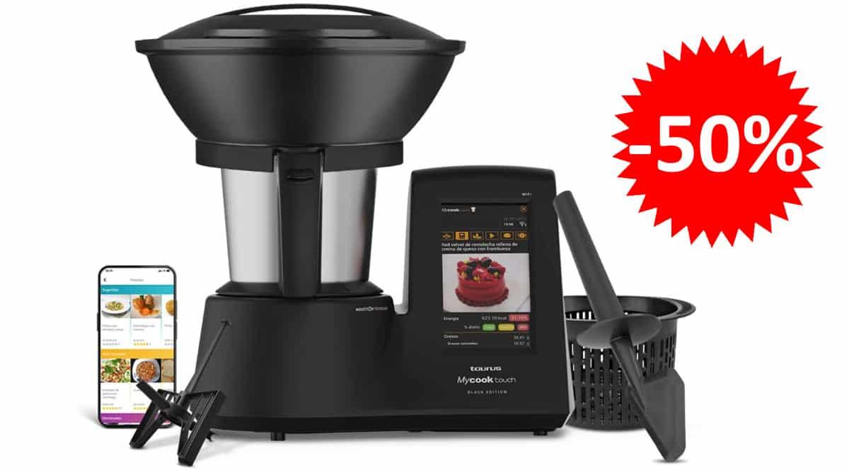 Robot de cocina Taurus Mycook Touch Black Edition barato, robots de cocina de marca baratos, ofertas hogar y cocina, chollo