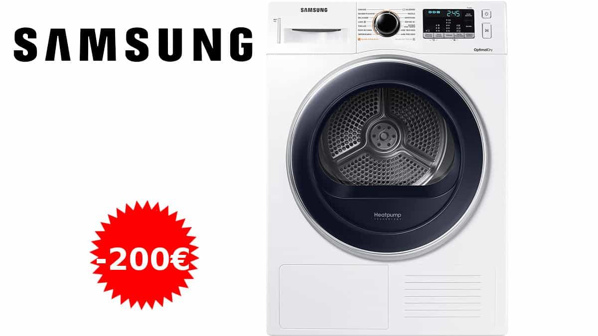 Secadora de bomba de calor Samsung DV80M5010QW barata, secadoras baratas, ofertas en electrodomésticos, chollo