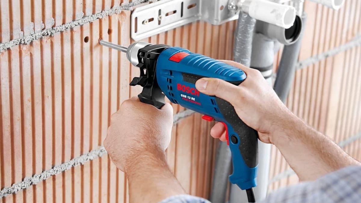 Taladro percutor Bosch Professional GSB 13 RE barato, taladros baratos, herramientas baratas, chollo