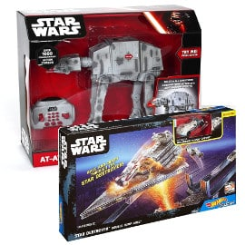 Vehículo radiocontrol Star Wars AT-AT y Destructor Hot Wheels baratos, juguetes baratos