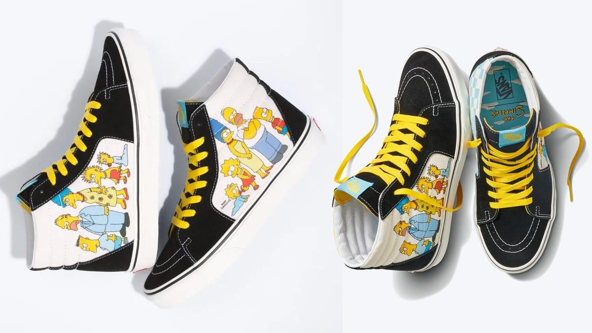 Zapatillas unisex Vans Sk8-Hi The Simpsons baratas, calzado de marca barato, ofertas en zapatillas deportivas chollo