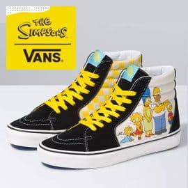 Zapatillas unisex Vans Sk8-Hi The Simpsons baratas, calzado de marca barato, ofertas en zapatillas deportivas