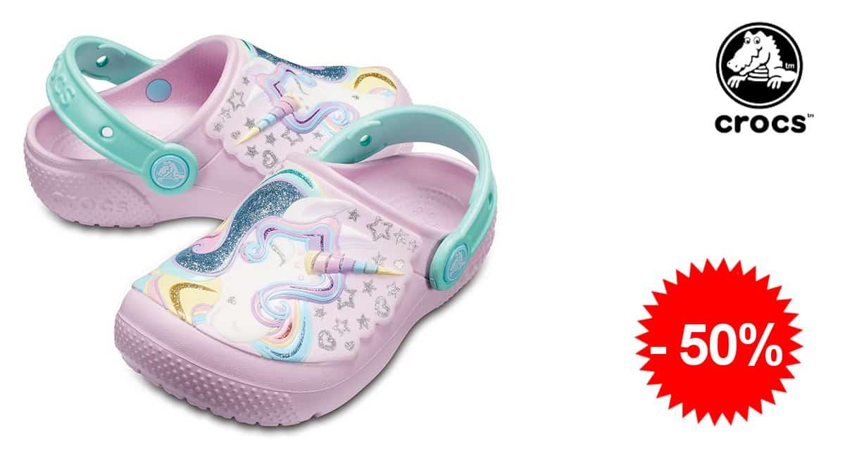 Zuecos para niños Crocs Fun Lab Clog Kids baratos, calzado barato, ofertas para niños, chollo