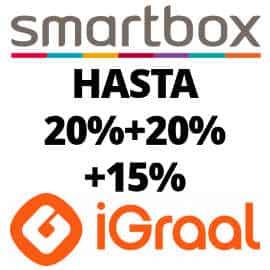 20% de descuento extra y 15% de cashback en Smartbox con iGraal, ofertas Smartbox, experiencias Smartbox baratas