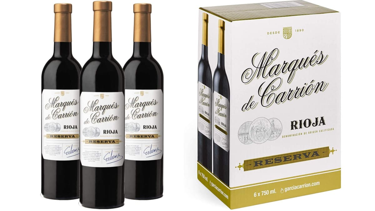 3 botellas de vino Rioja Reserva Marqués de Carrión barato, vino barato, chollo