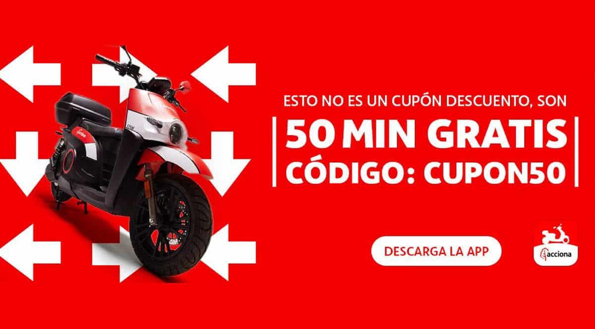 50 minutos gratis en alquiler de motos con Acciona, chollo