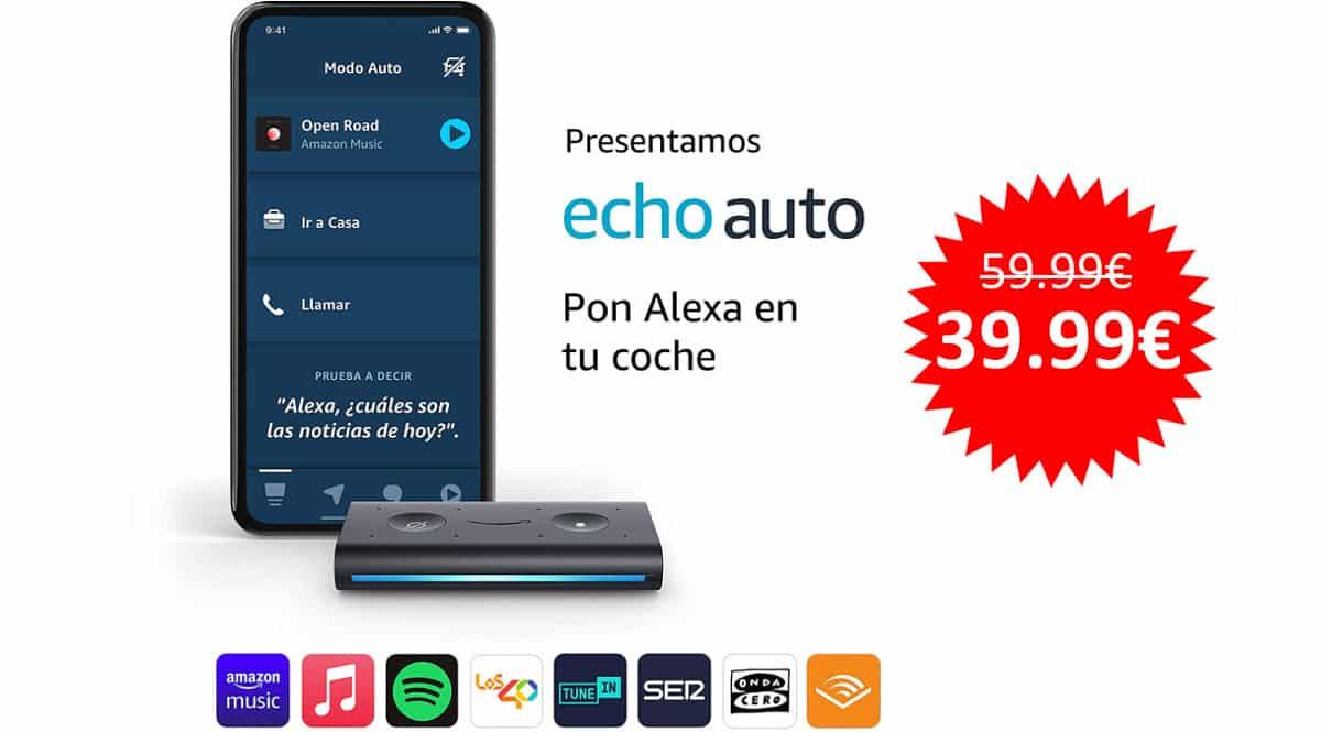 ¡¡Chollo!! Echo Auto, Alexa en tu coche, sólo 39.99 euros.