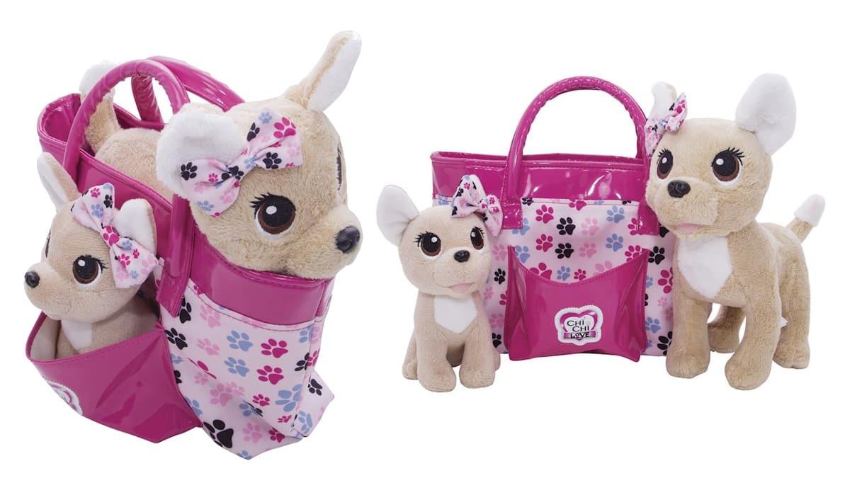Baby Love perritos con bolso de Chi Chi Love baratos, juguetes baratos, ofertas para niños chollo