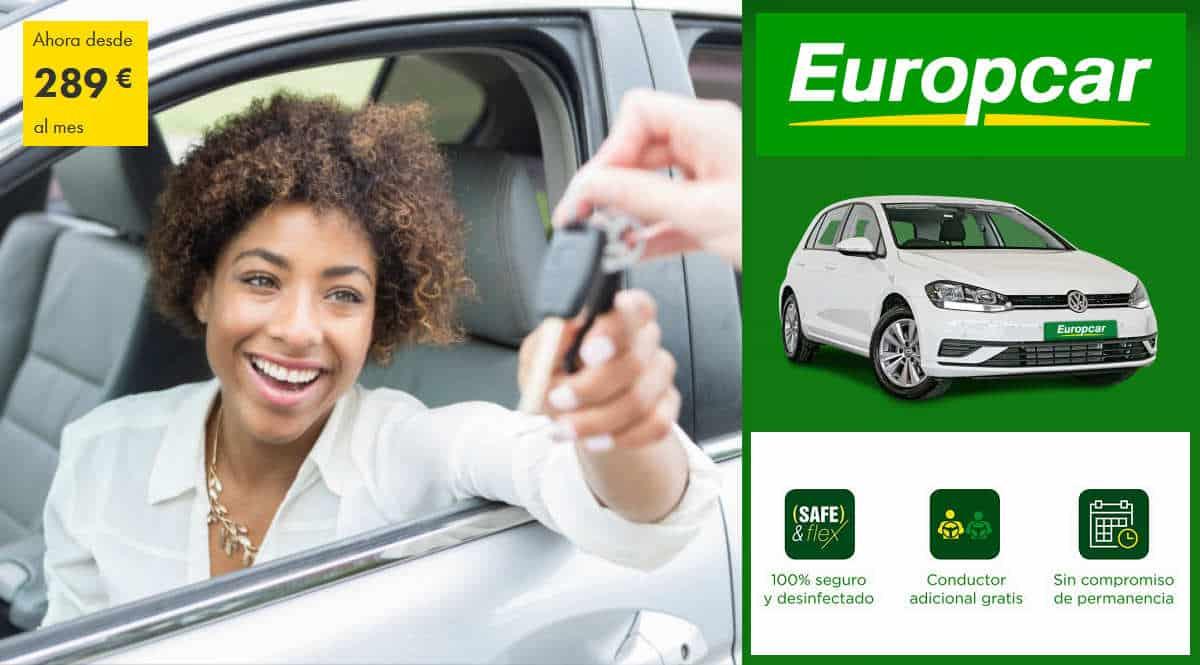 Bonocar mensual Europcar, alquila tu coche mensualmente, alquiler de coches baratos, chollo