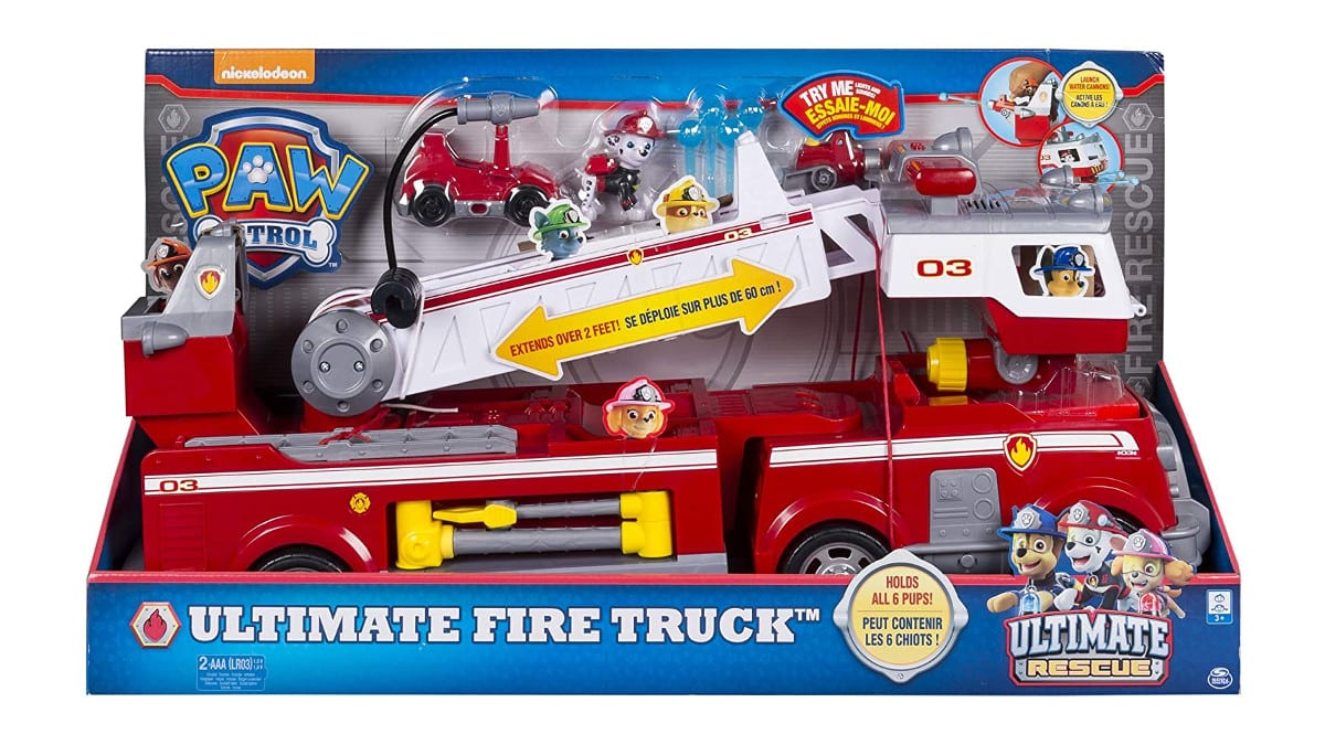 Camión de bomberos de la Patrulla Canina barato, juguetes baratos, chollo