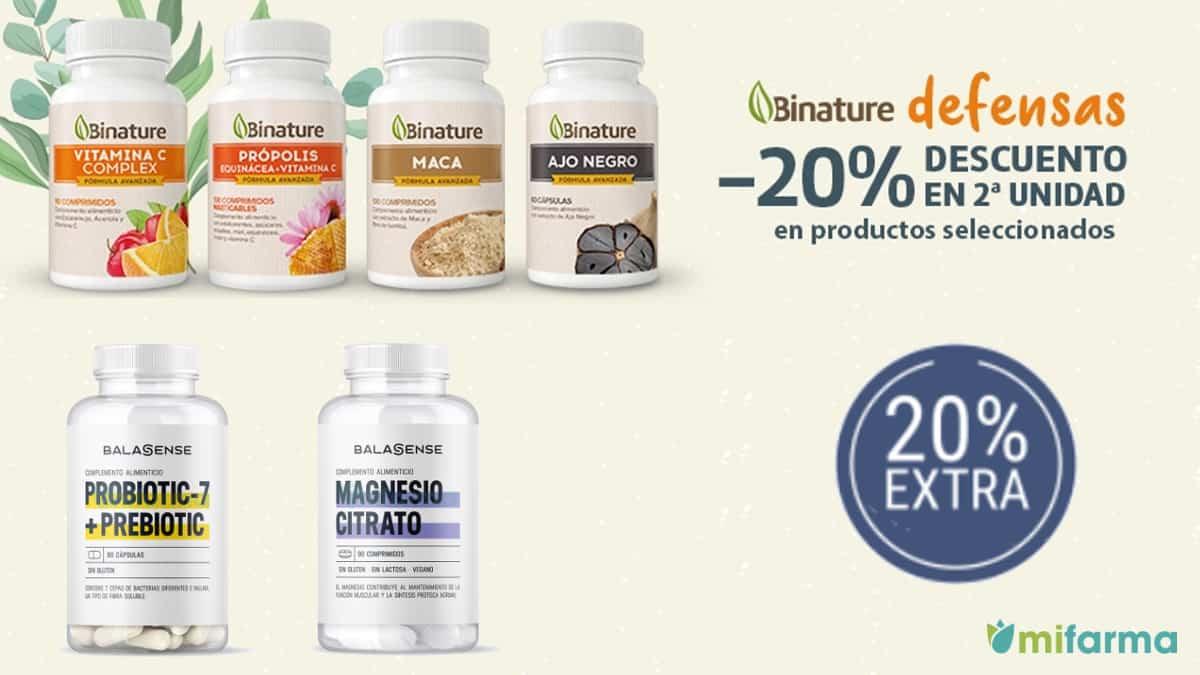 Código descuento exclusivo en complementos alimenticios y vitaminas Mifarma, descuentos en nutrición, ofertas farmacia, chollo