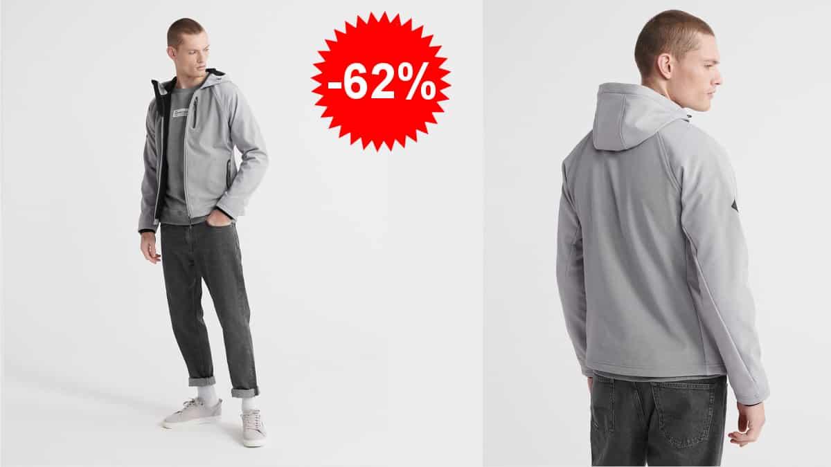 Chaqueta Softshell para hombre Superdry Hooded, chaquetas baratas, ofertas ropa de marca, chollo
