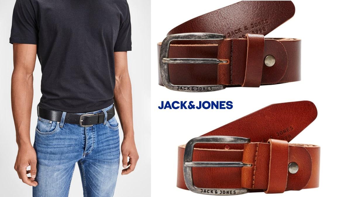 Cinturón Jack & Jones Jjipaul Jjleather barato, cinturones de marca baratos, ofertas en ropa, chollo
