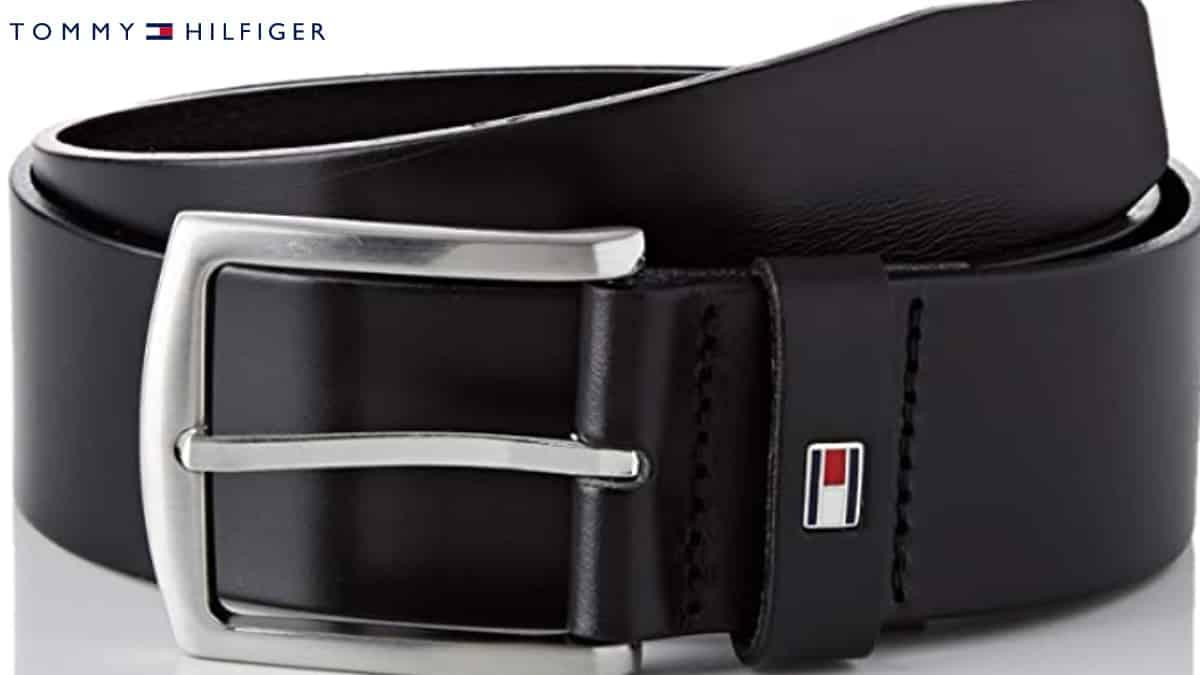 Cinturón para hombre Tommy Hilfiger New Denton, cinturones de marca baratos, ofertas ropa, chollo