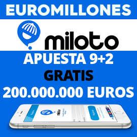 Cupón descuento Miloto Euromillones, apuesta Euromillones gratis