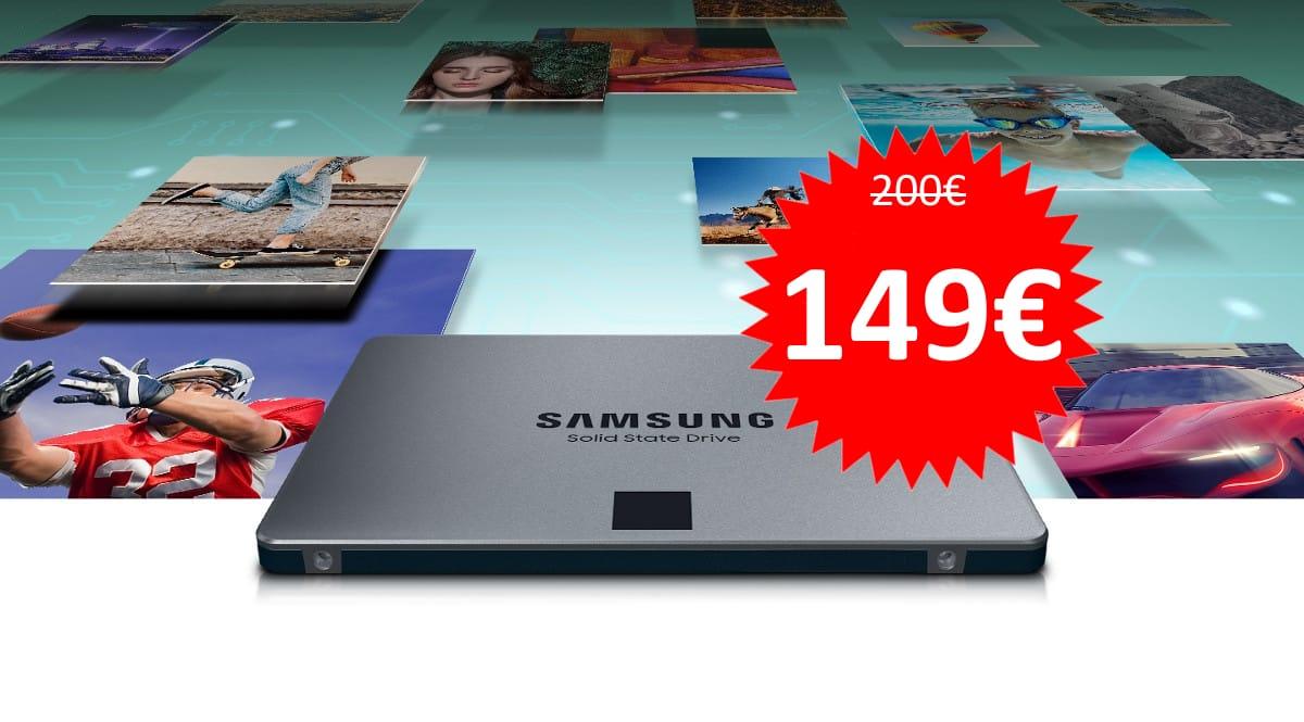 Disco SSD Samsung 870 QVO 2TB barato. Ofertas en discos SSD, discos SSD baratos, chollo