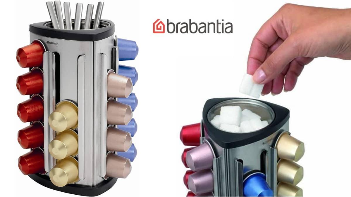 Dispensador de cápsulas Brabantia barato, accesorios cafeteras baratos, ofertas casa, chollo