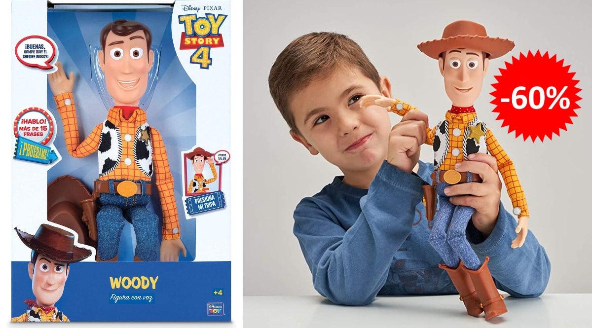 Figura articulada con voz Woody barata, juguetes baratos, ofertas para niños chollo