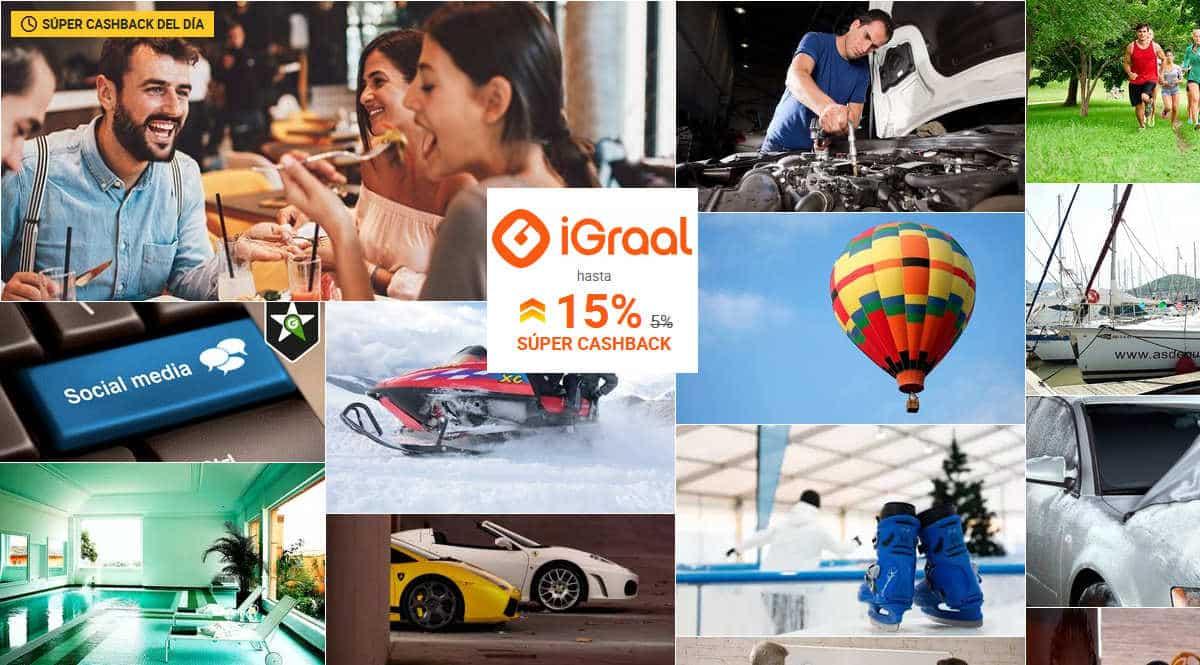 Hasta 30% de descuento y 15% de cashback en Groupon con iGraal, ofertas en Groupon, cashback iGraal, chollo