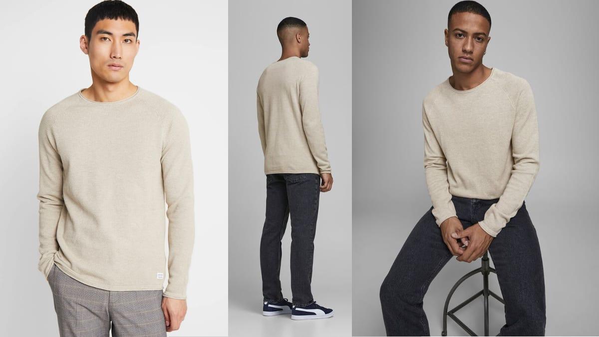 Jersey de punto Jack & Jones Jjehill barato, ropa de punto barata, ofertas en ropa de marca, chollo
