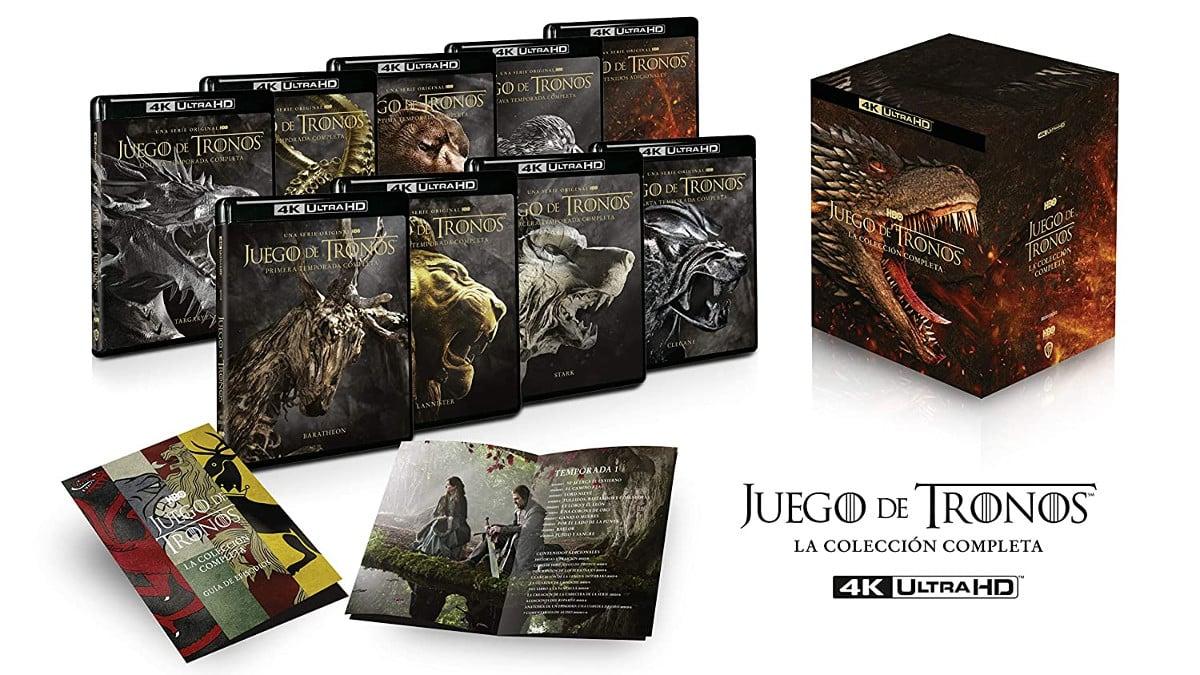 Juego de Tronos La colección completa Blu-ray 4k UHD barata, series de TV baratas, chollo