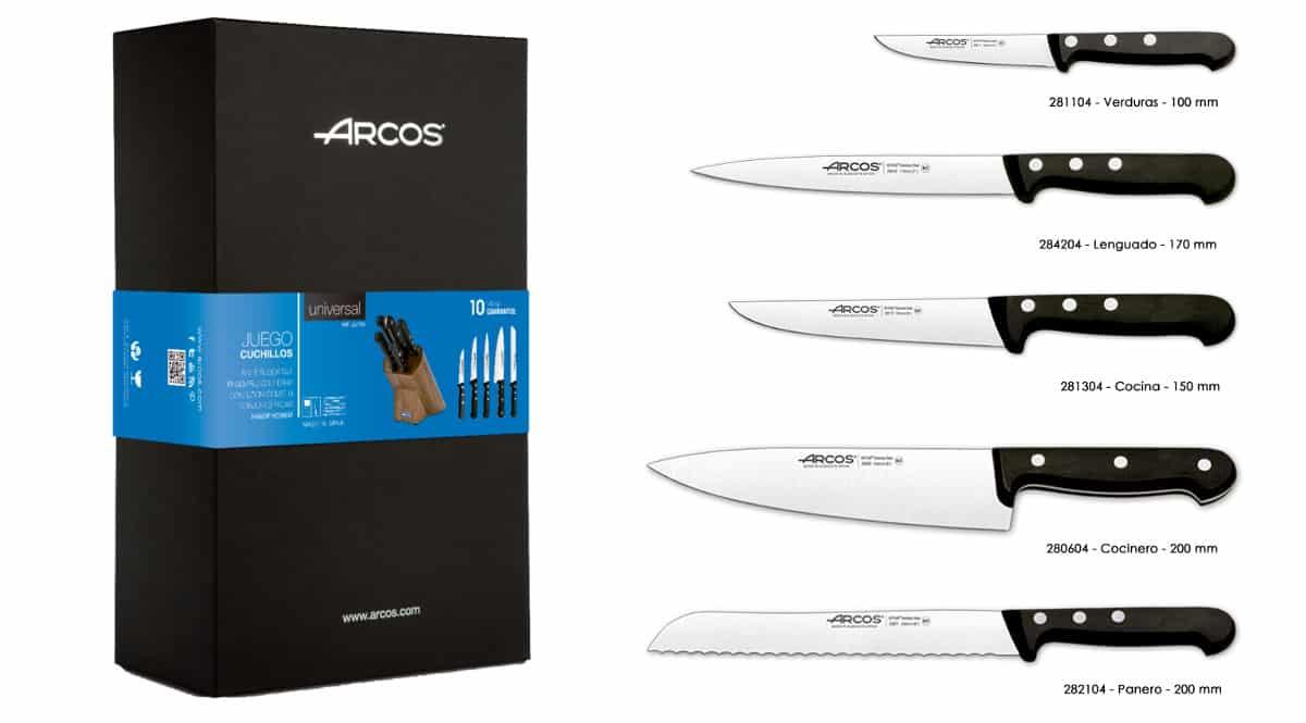 Juego de cuchillos Arcos Serie Universal barato. Ofertas en cuchillos, cuchillos baratos, chollo
