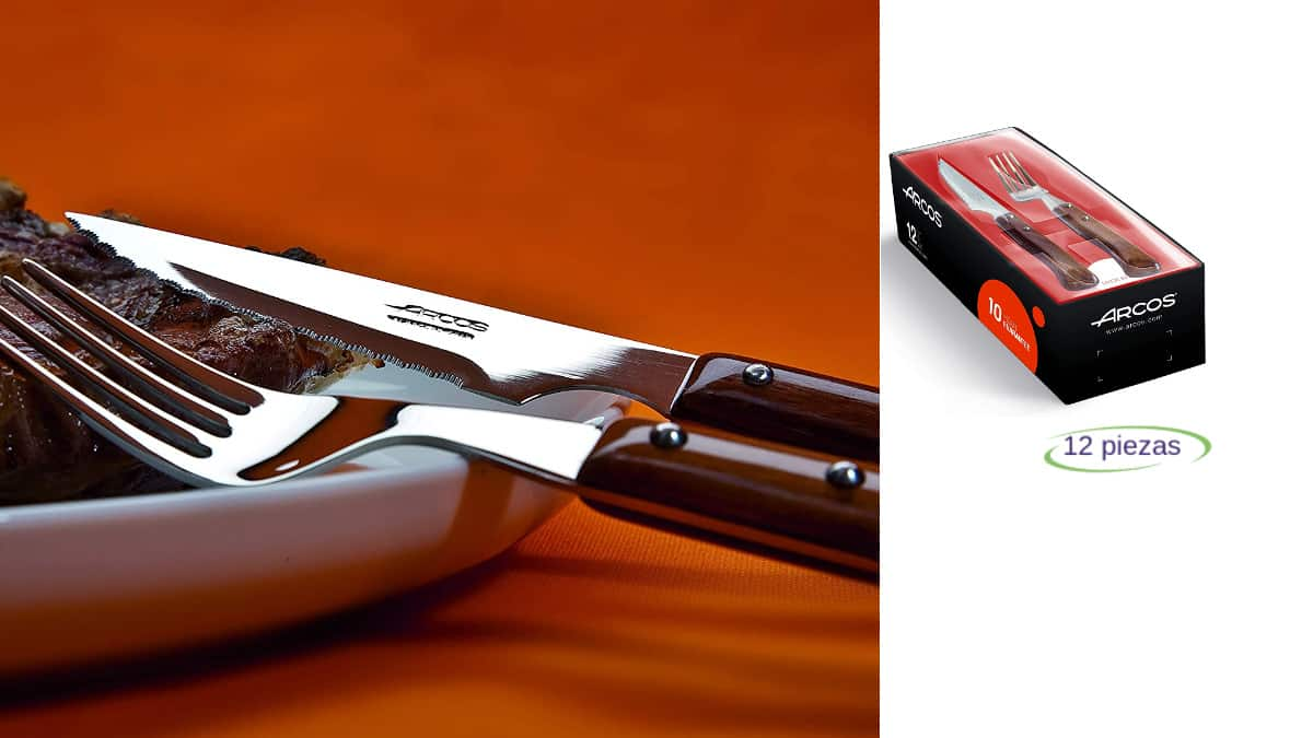 Juego de cuchillos y tenedores Arcos Serie baratos, cubiertos de marca baratos, ofertas cocina, chollo