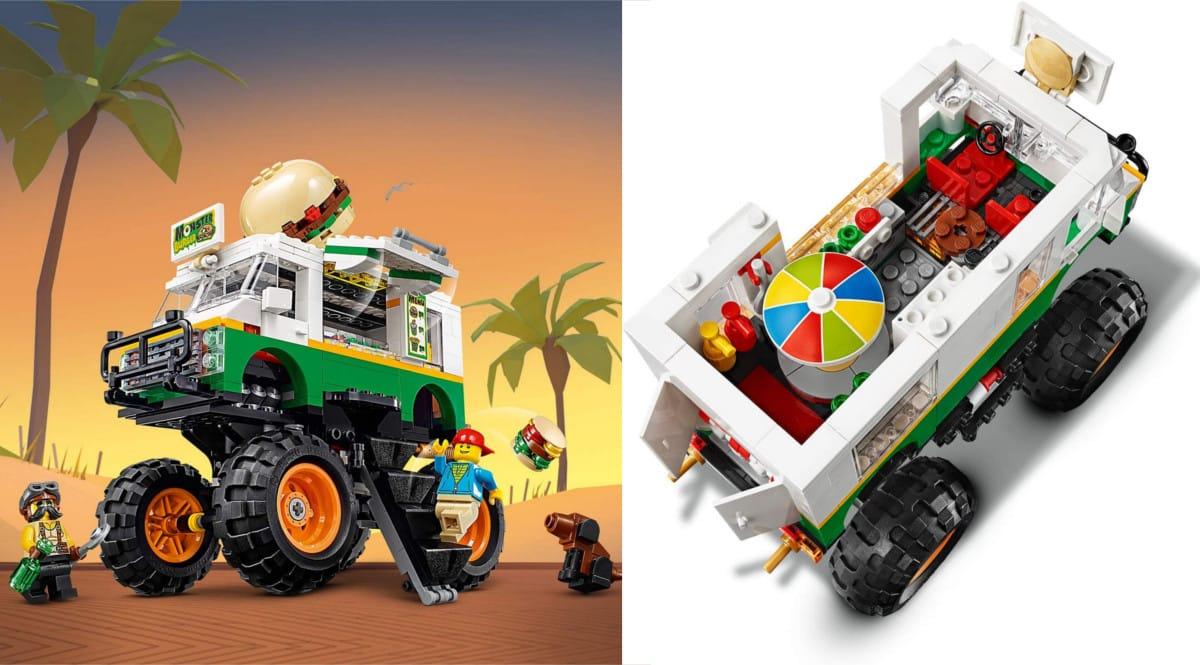 Juguete LEGO Monster Truck Hamburguesería barato. Ofertas en juguetes, juguetes baratos, chollo