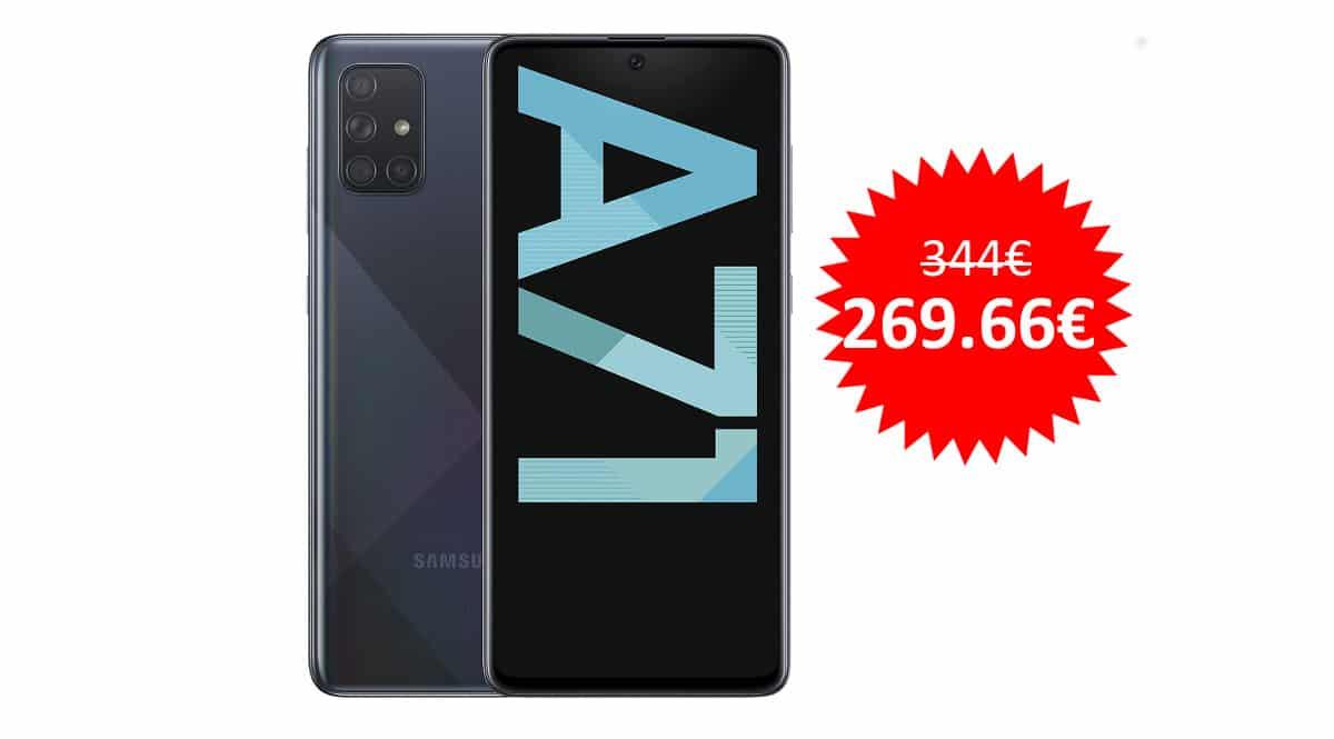 ¡Código descuento! Móvil Samsung Galaxy A71 6/128GB sólo 269 euros. Te ahorras 75 euros.