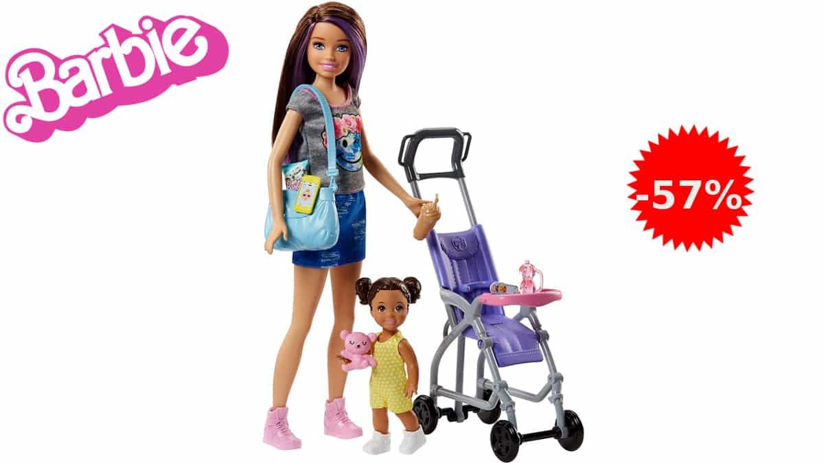 Muñeca Barbie Skipper niñera de paseo barata, juguetes baratos, ofertas para niños, chollo
