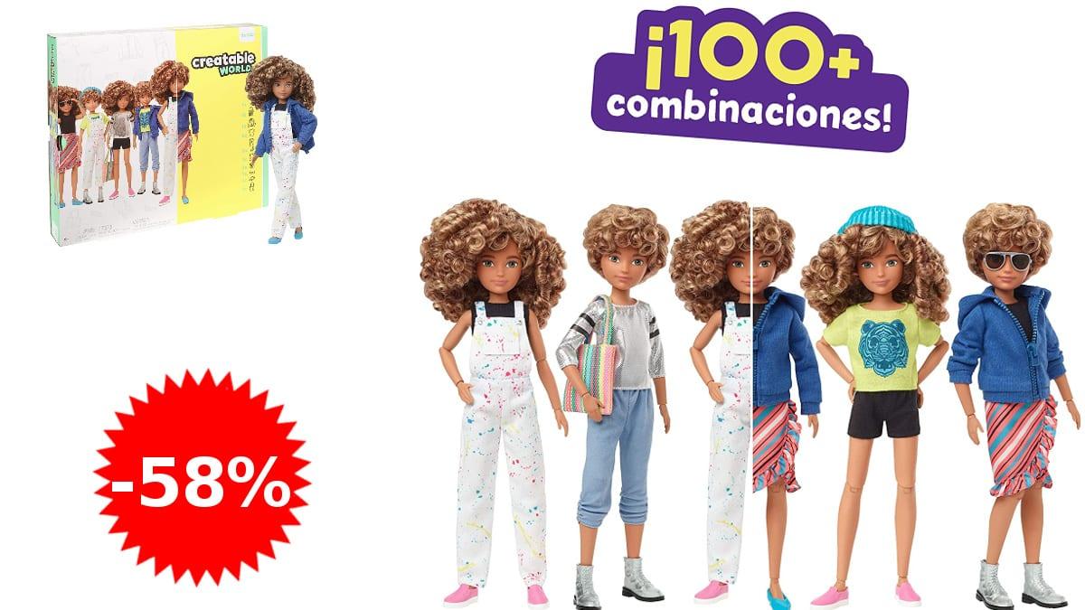 Muñeco Creatable World barato, muñecos baratos, ofertas en juguetes, chollo