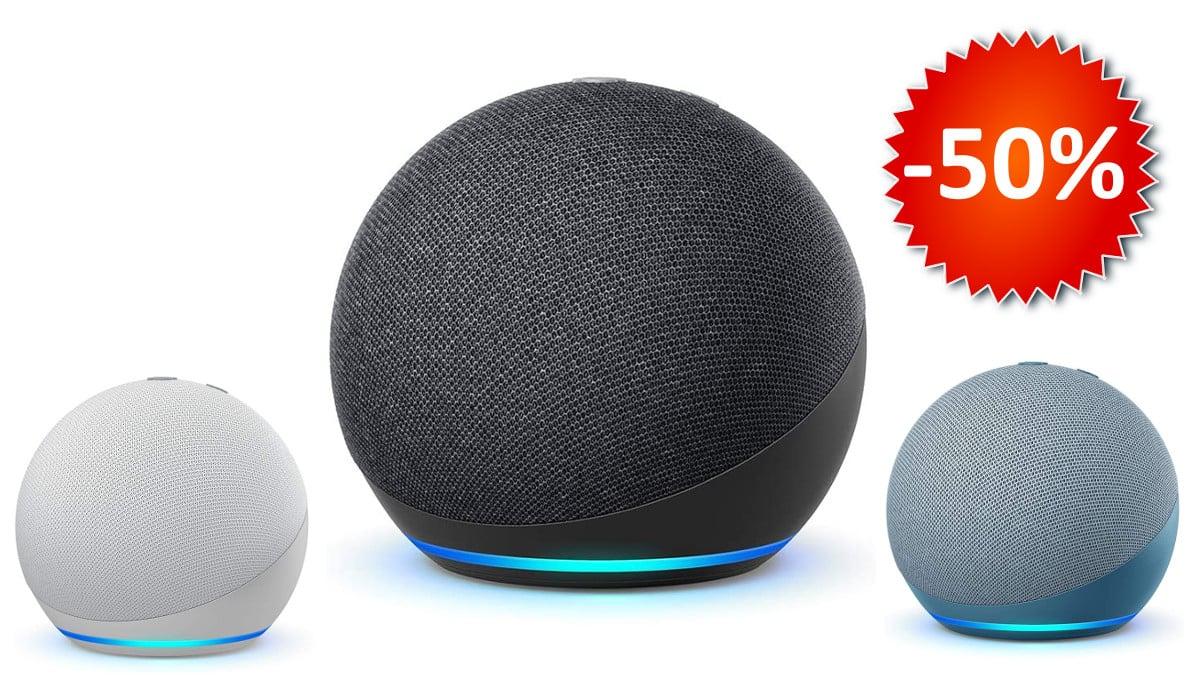 Nuevo altavoz Amazon Echo Dot 4ª generación barato, altavoces baratos, chollo